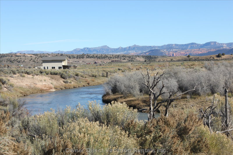 The Sevier River Retreat passes all around the property, ID#224469