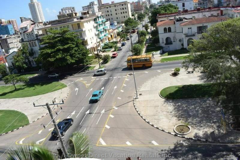 The View from the Balcony to the Avenue Paseo and Street