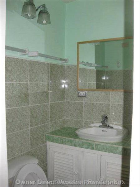 Washroom (B) - Guests Would be Renting one of the 5 Bedroom/bathroom Suites but the Specific Unit Cannot be Guaranteed.