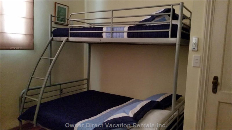 Second Bedroom with Convenient Bunk Beds.