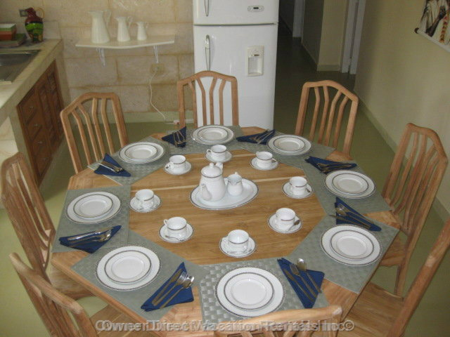 Dining Table for 8 Guests and Cutlery at Villa