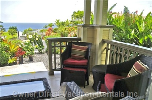 Ocean View from Lanai is a Welcome Sight by Day Or Night