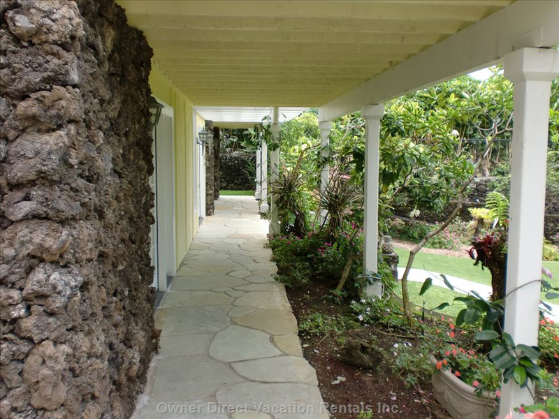 Exterior View of the Walkway to the House