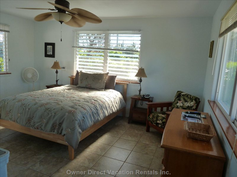 Ocean Views from Master Bedroom with Pirvate Lanai Access & Bathroom