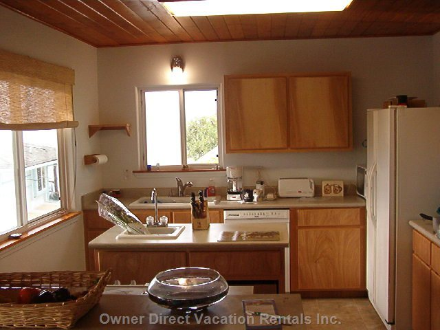 Fully Equipped Kitchen with a Handy Sink in the Island!