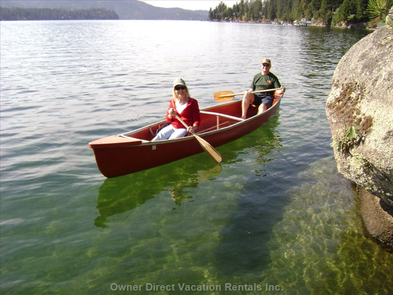 The 17 Ft Canoe Carries 2 Adults and 2 Children