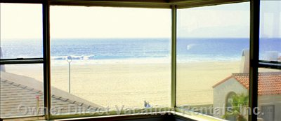 Enjoy Stunning Panoramic Ocean and Beach Views from your Living Room!