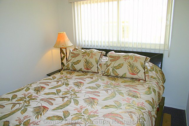 Queen Size Bed in the Private Bedroom. - If a 3rd and/Or 4th Occupant Need to be Accommodated, an Air Mattress Will be Supplied.
