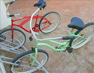 Complimentary Bicycles with your Rental