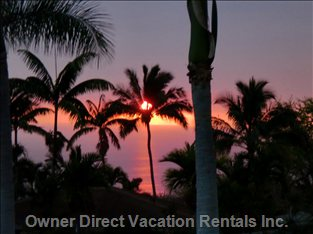 Sunset from Front Lanai - one of many Beautiful Sunsets from the Front Lanai. the Views Are Spectacular!