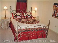 Upstairs Bedroom, Queen Bed, Mountain View