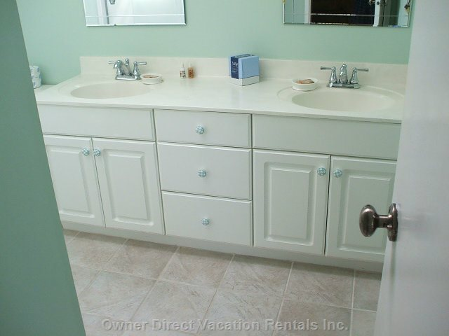 Master Bath - Dual Vanity and Glass Door Showers