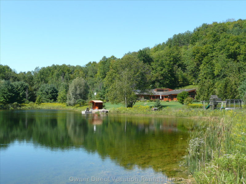 Private Pond, Beach and Sauna