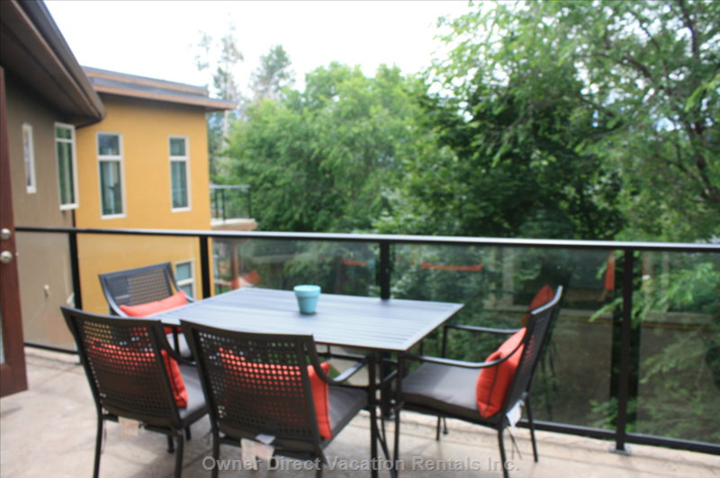 Spacious Patio with Quiet View