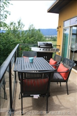 Enjoy a Great Bbq Dinner and Glass of Local Wine on your South Facing Patio