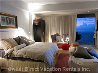 Master Suite Allow for Views to the Entire City and Bay While Providing a Perfect Vantage to View the Nightly Fireworks