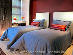 2nd Bedroom Allows for Two Beds Or one Large King as an Option for Guests.