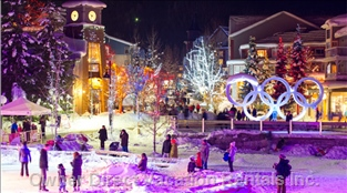 Olympic Rings in Village - 10 Min Walk.