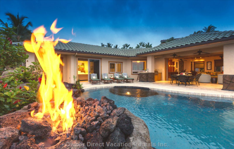 Fire Pit Volcano is Wonderful for your Late Night Swim