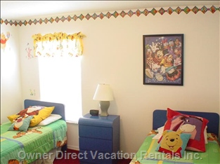 One of Two Disney-themed /Bedrooms