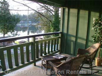 Cottage Porch and with Gorgeous Views of Shawnigan Lake
