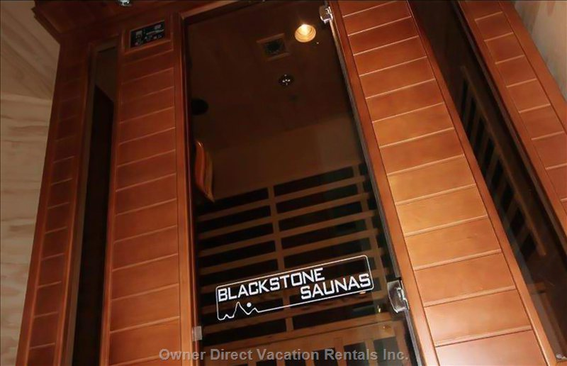 Blackstone Infrared Sauna, Shared with the Main Home