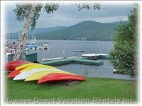Free Watercraft at Marina on Beach. - Kayaks and Canoes Are Available Free. other Motorized Craft Can be Rented for Fishing Etc. the Lake Tremblant Cruise Boat Leaves Nearby.