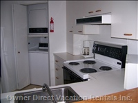Kitchenette - Self Contained with Fridge Stove, Washer, Drier, Dishwasher, Microwave, Coffee Maker, Toaster Kettle Etc and all Utensils. Hatch Provides Access to Dining Area.