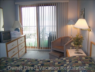 Master Bedroom. - MB has Queen Bed and Separate Patio Door Access to Balcony. Ensuite with Jacuzzi Bath is Also off Master Bedroom,