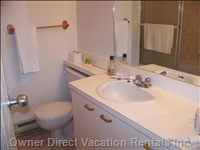 Bathroom - Separate Access from both 2nd Bedroom and Hall Way. Contains its Own Shower Stall.