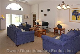 Family Room with Doors onto Deck