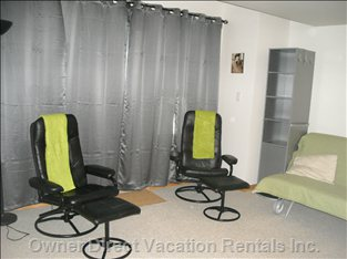 Lower Media Room - TV Chairs