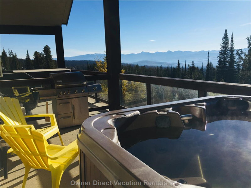 Deck with Hot Tub, View and Stainless Bbq