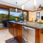 Island Style Kitchen Area and Wet Bar
