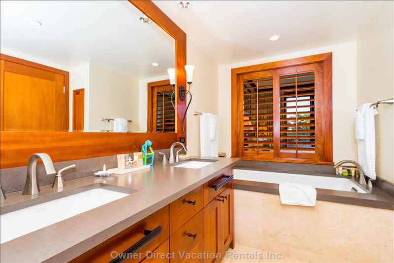 Master Bathroom, with Double Vanity and Soaking Tub