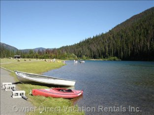 Lake at Manning Park Located 40 Minutes (Drive) Away.