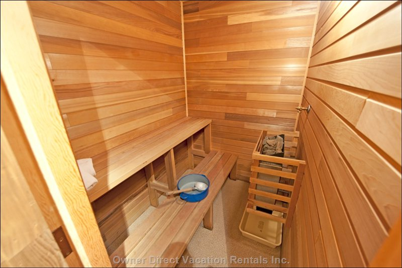 Private Sauna in the Unit