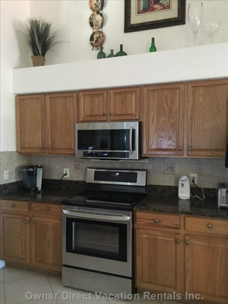 New Stainless Steel Microwave and Stove