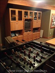 Foosball Table and Games Cabinet on Second Floor.