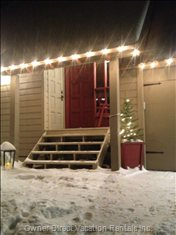 Just Flip a Switch inside the Door and your 'holiday' Lights Will Greet you in the Evening!