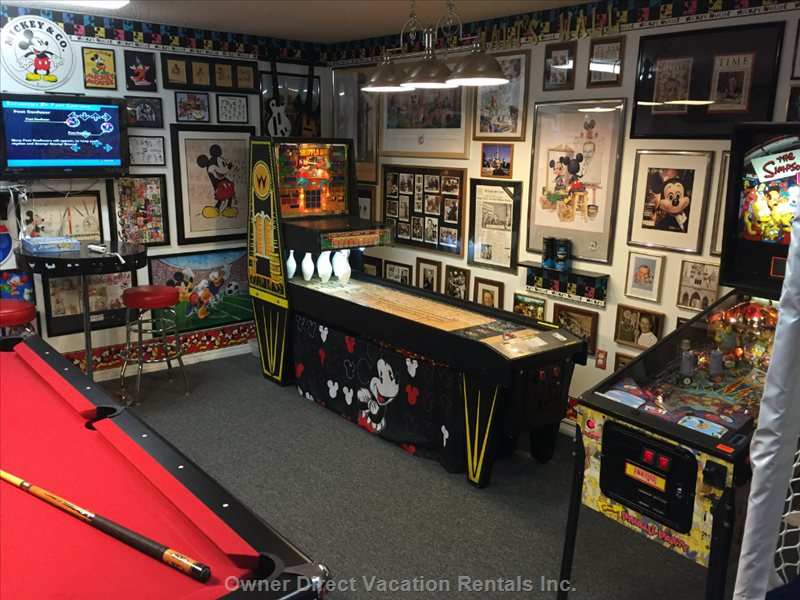 Billiards, Shuffle Alley, Simpsons Pinball--all Free Play