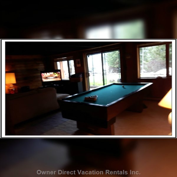 Pool Table in Basement Walk out