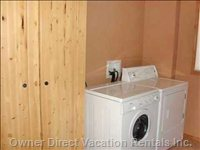 Laundry Facilities and Indoor Locker Unit - this Area Also has a Cot.