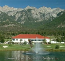 Riverside Golf Resort Clubhouse. House is on Left Side. - Gorgeous View of the Saw Tooth Mountains. Fabulous Hiking and Biking Trails. they Also Have Horse Back Trail Rides. you Can Ride the Pony in the Ring Or Take the Guided Mountain Tours.
