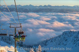 One of the many Spectacular Views from the Top of Kicking Horse Resort. Stunning.