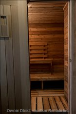 Sauna and  Outdoor Hot Tub Available for Guest Use.