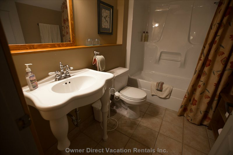 All Bathrooms Have Heated Floors and Antique Designed Sinks.