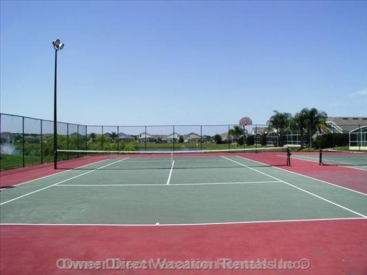 Tennis Court and Basketball Court for the Guests to Enjoy.