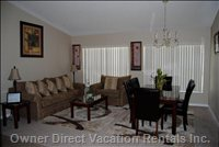 Living Room and Dining Combo - Great Place to Hang out and Read Or Just Simply Relax.