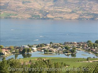 View of Okanagan Lake (Green Bay) as Seen from the Property's Patios.